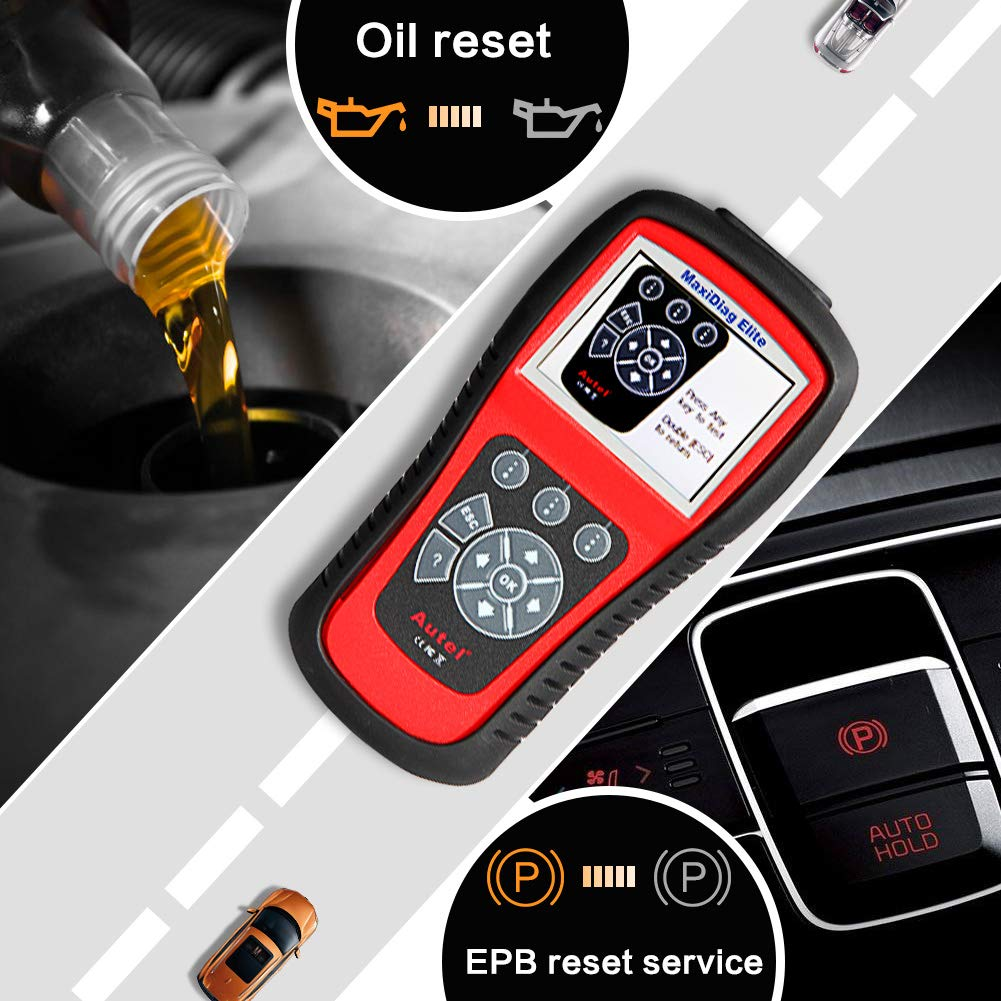 Autel Professional Scan Tool MaxiDiag Elite MD802, OBD2 Car Code Reader for All Systems, Car Diagnostic Scanner for All Electronic Modules (Engine, Transmission, ABS, Airbag), EPB, Oil Service by Autel (Image #3)