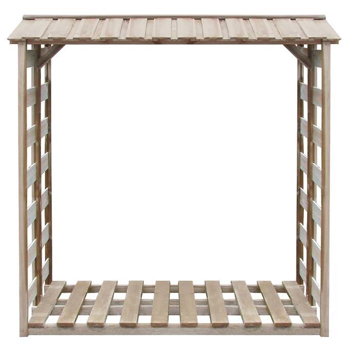 Festnight Caseta para Leña Cobertizo de Almacenamiento de Madera150x100x176 cm Impregnada: Amazon.es: Hogar