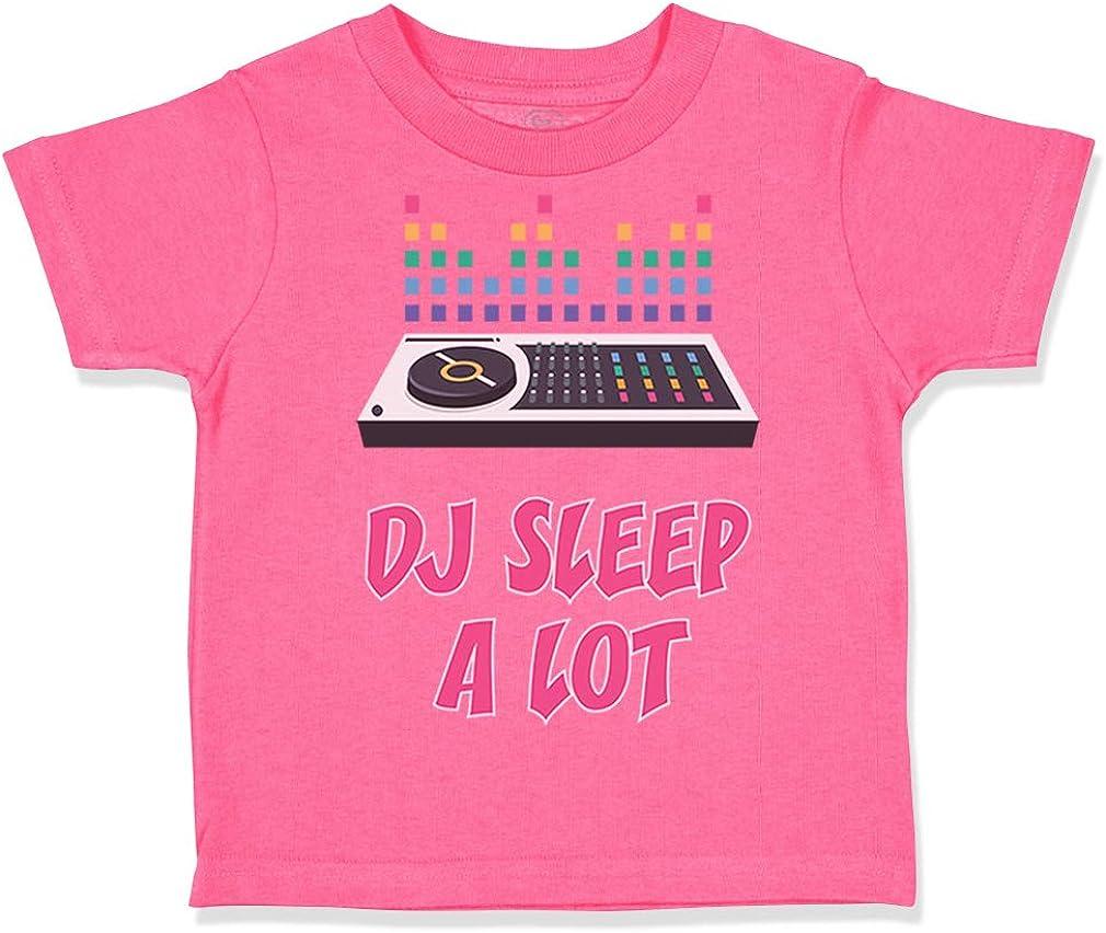 Custom Toddler T-Shirt Dj Sleep A Lot Funny Music Cotton Boy /& Girl Clothes