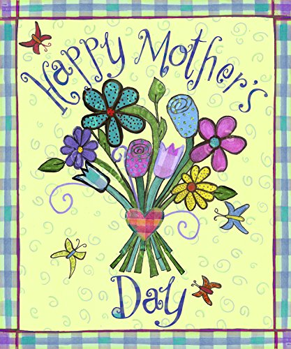 - Mother's Day Bouquet House Flag Butterfly Spring Floral Mom Decorative 28