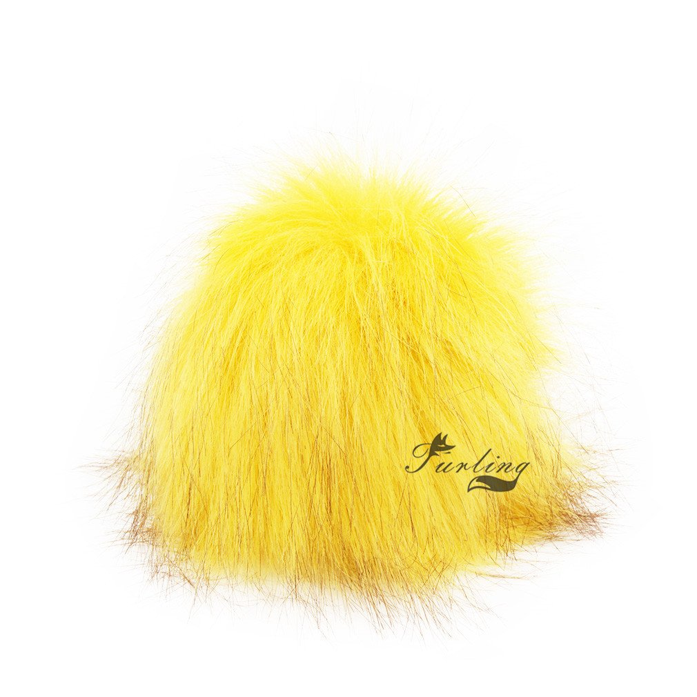 Hot Pink 1pc Faux Fox Fur 4.3inch Fluffy Pom pom Ball W//Cord for Hat Scarves Accessories DIY