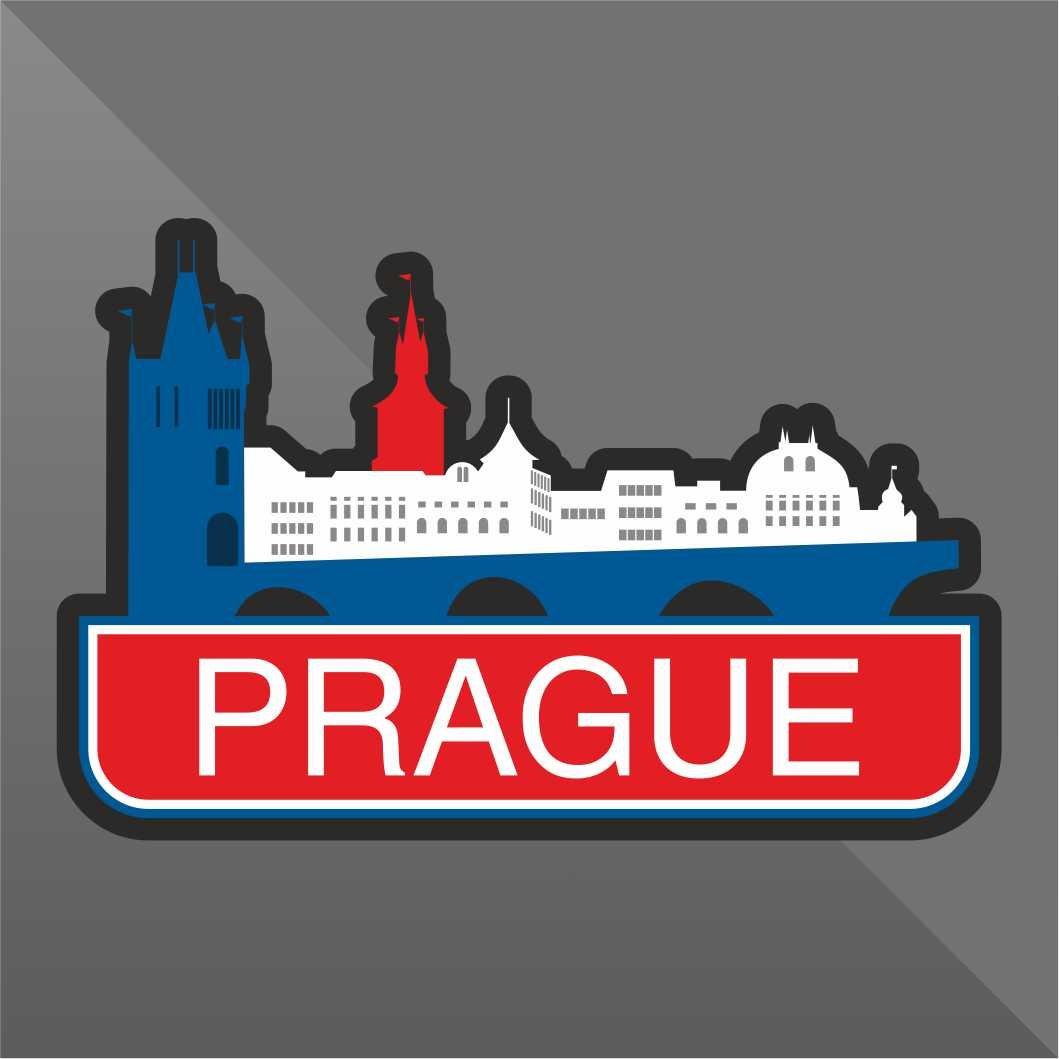 erreinge Sticker Praga Prague Prag - Decal Cars Motorcycles Helmet Wall Camper Bike Adesivo Adhesive Autocollant Pegatina Aufkleber - cm 10