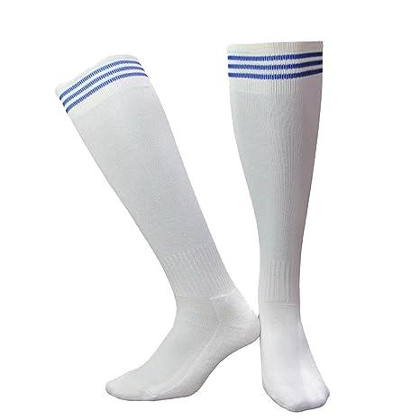 Adulto Toallas De Extremo Liso De Fútbol Calcetines De Cañón Largo Multicolor,White2