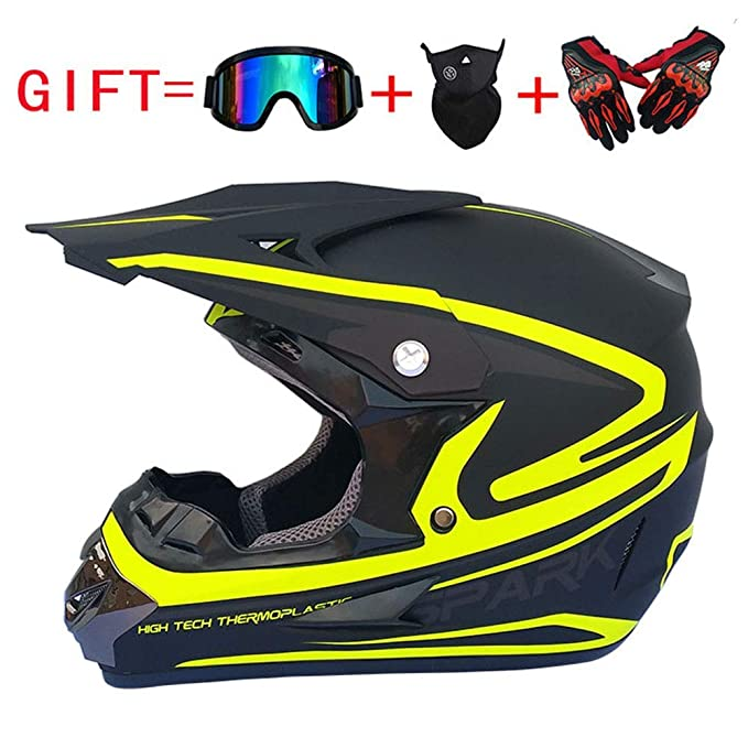 GAOLI Casco de Motocicleta, Todo Terreno Off-Road MX ATV ECE ...