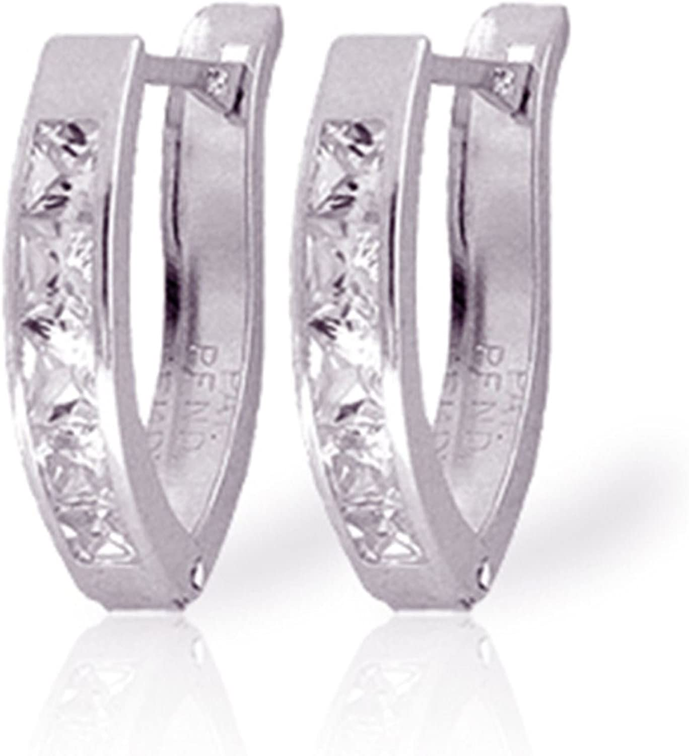 ALARRI 1.58 Carat 14K Solid White Gold Nothing Worth More Cubic Zirconia Earrings