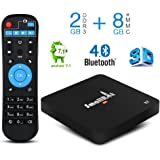 Android 7.1 TV Box, SMALLRT X2 Smart TV Box 2G+8G with Bluetooth 4.0 Support Wifi Quad Core Media Player for 4K HD Home Entertainment