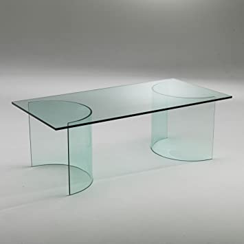 Table Basse Verre Et Noir Design Klodia Amazonfr Cuisine