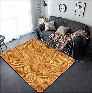 Vanfan Design Home Decorative Close Up Parquet Floor Texture Modern Non Slip Doormats Carpet
