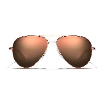 cac9ebefb ROKA Phantom Alloy Sports Performance Aviator Polarized Sunglasses for Men  and Women - Copper Frame -