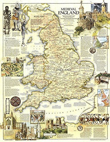 Amazon Com Tomorrow Sunny Map Of Medieval England Castle The Nordic