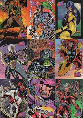 MARVEL VS WILDSTORM 1997 FLEER COMPLETE BASE CARD SET OF 90 (Trading Cards Comic Book)