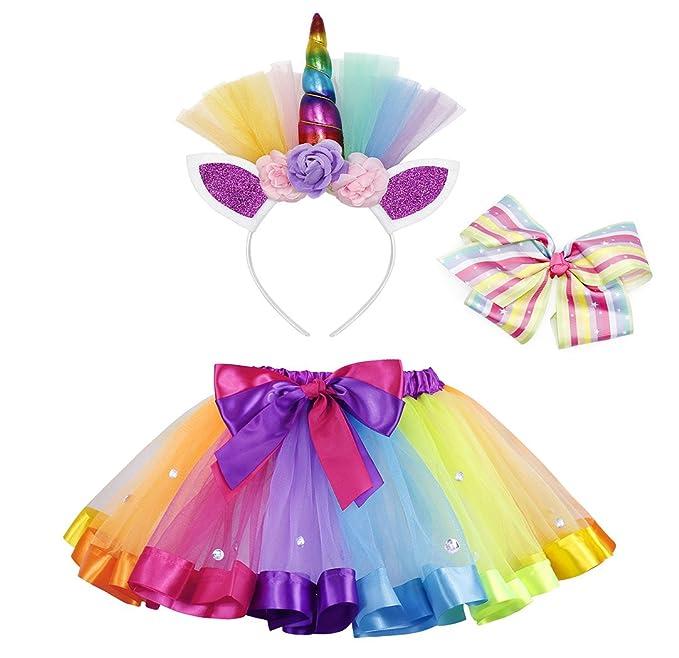 AmzBarley Disfraz de Unicornio para niña Falda de tutú ...