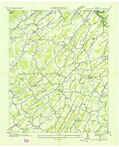 (Tennessee Maps | 1935 Sullivan Gardens, TN USGS Historical Topographic Map | Cartography Wall Art | 24in x 30in)