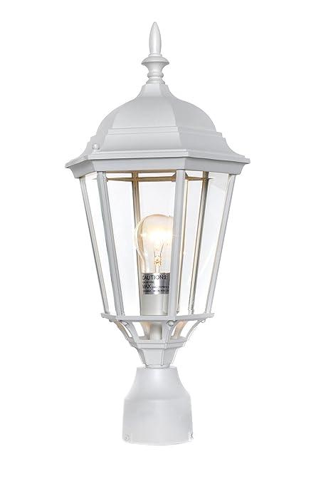 white outdoor post light hampton bay maxim 1005wt westlake cast aluminum outdoor post lighting 100 total watts white