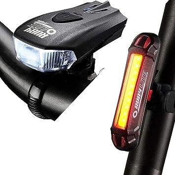 LIRENSHIGE - Juego de Luces LED para Bicicleta (Recargables por ...