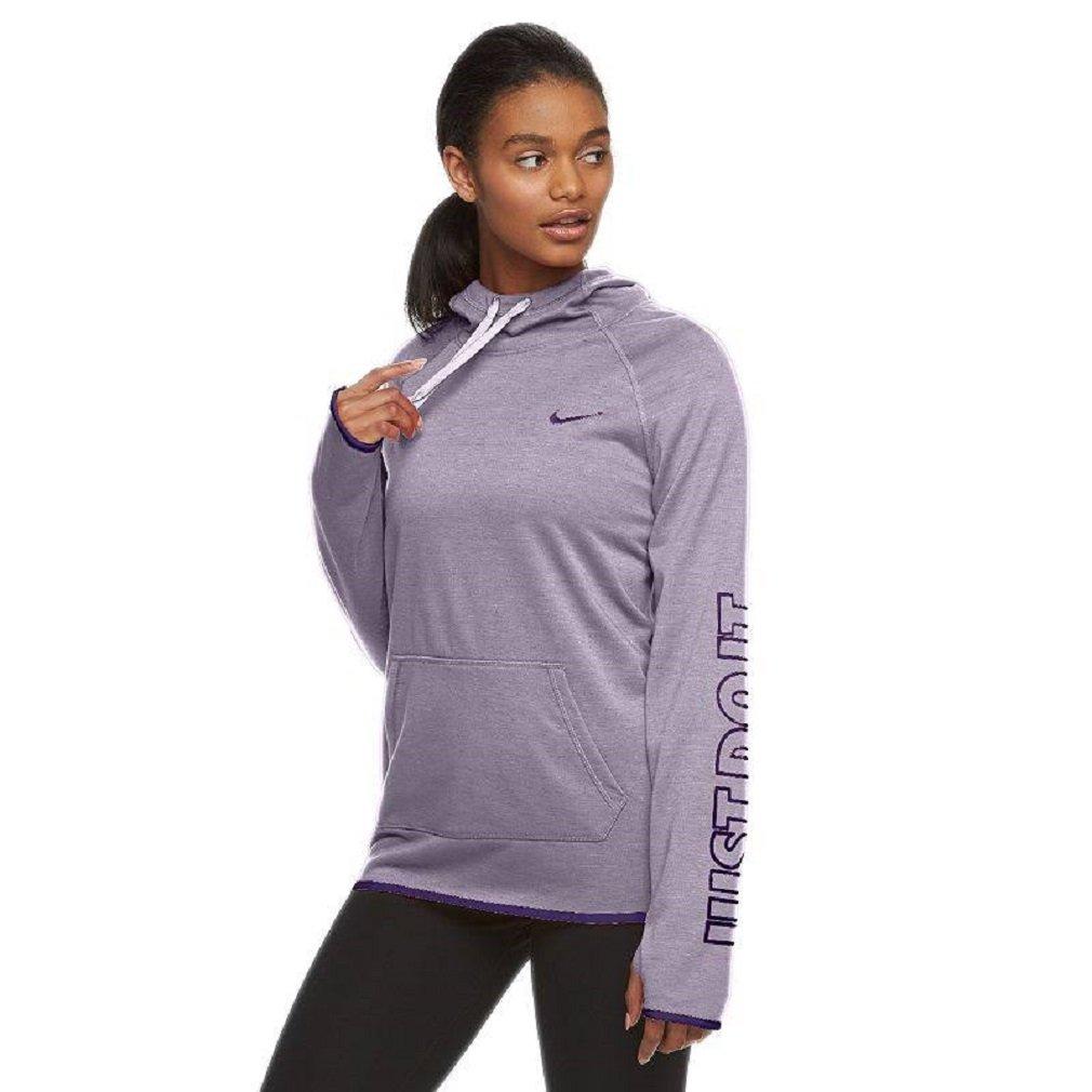 NIKE Women's Just Do It Dri-FIT Training Hoodie (Medium, Light Purple)