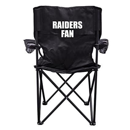 Superbe VictoryStore Outdoor Camping Chair   Raiders Fan Black Folding Camping Chair  With Carry Bag