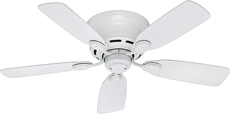 Hunter Fan Company 51059 Hunter Indoor Low Profile Iv Ceiling Fan With Pull Chain Control 42 White Amazon Com