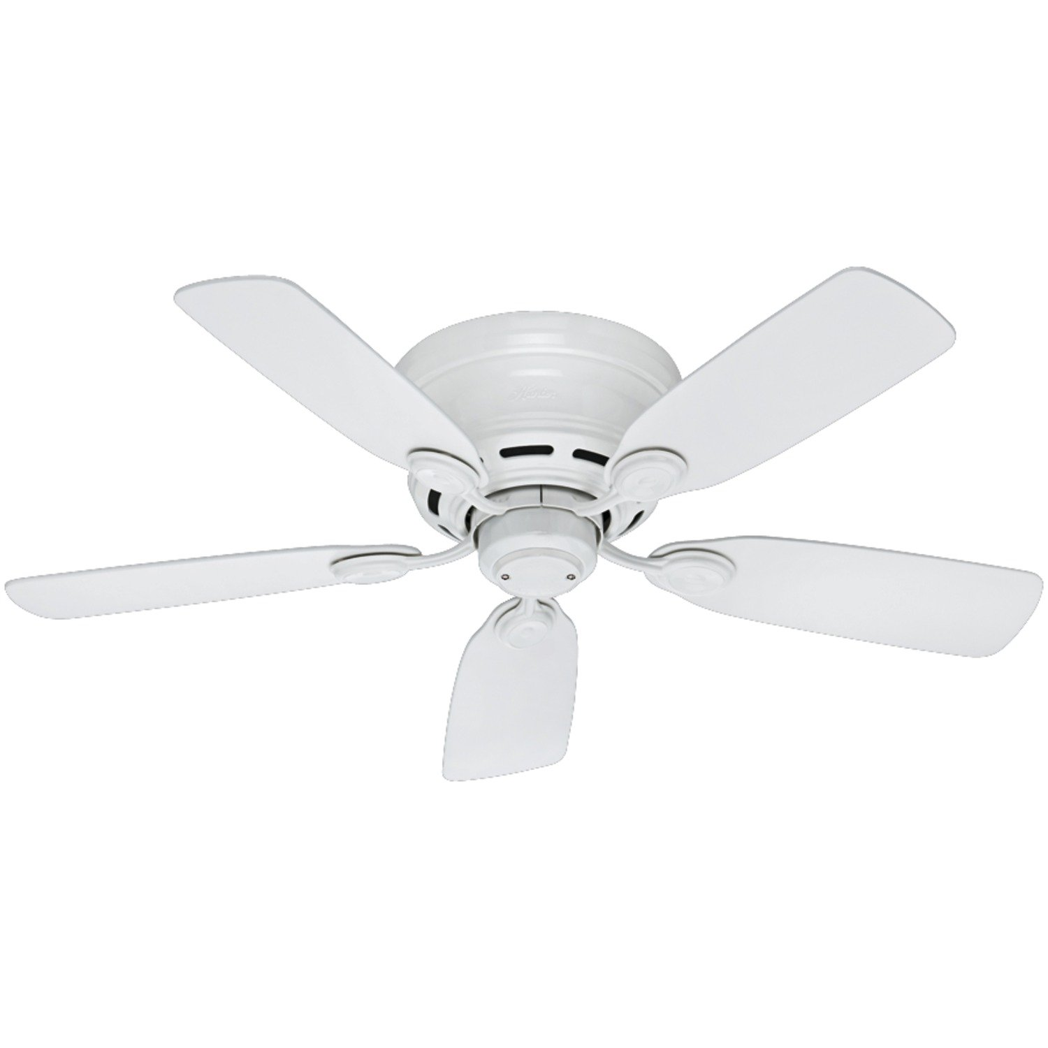 Hunter White Fan Part - 21: Hunter 51059 Low Profile IV 5-Blade Ceiling Fan, 42-Inch, White - -  Amazon.com