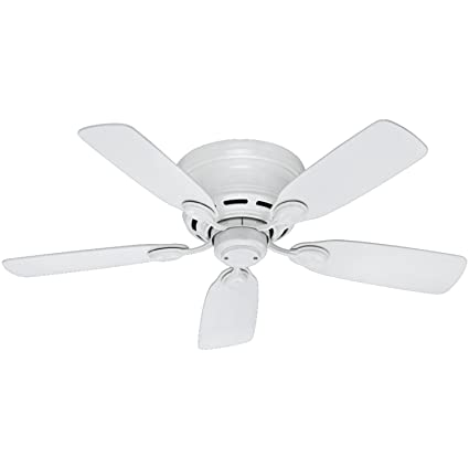 Hunter 51059 low profile iv 5 blade ceiling fan 42 inch white hunter 51059 low profile iv 5 blade ceiling fan 42 inch white aloadofball Image collections