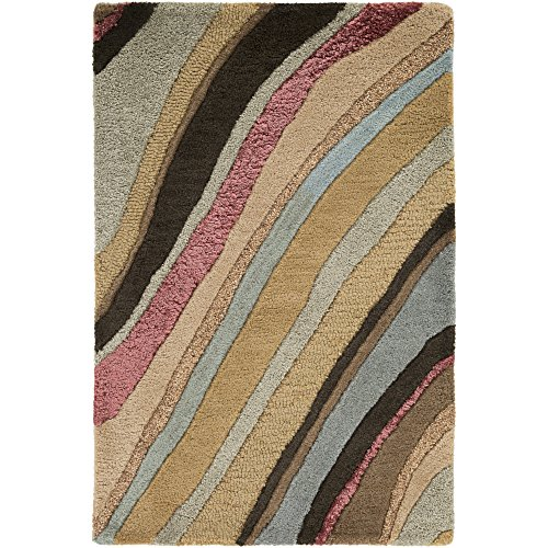 (Surya Artist Studio ART-229 Contemporary Hand Tufted 100% New Zealand Wool Coffee Bean 9' x 13' Abstract Area Rug)