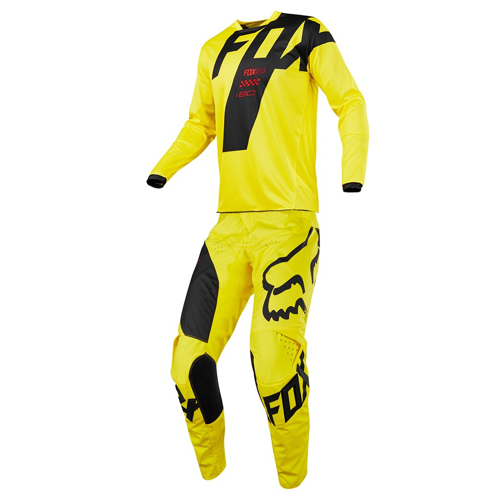 Fox Racing (Youth) 180 Mastar Yellow Jersey/Pant Combo - Size Y-XLARGE/28W