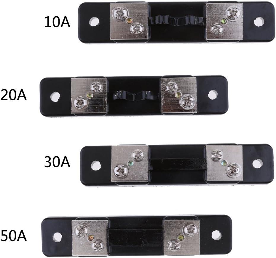 1 Shunt Resistencia DC Amper/ímetro Amplificador FL-2 10A//20A//30A//50A Medidores de Panel Anal/ógico Cuatro Selecciones