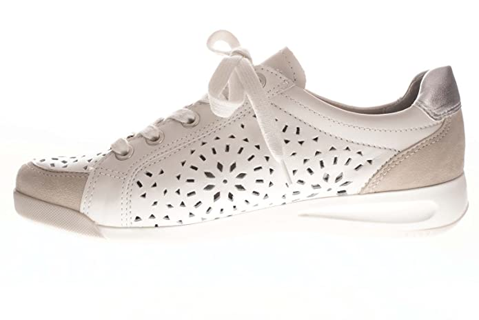 ARA 34456 - Baskets Mode - Femme - Semelle Amovible : Oui - Blanc - Taille 9 UK LBqsd8