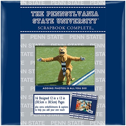 C.R. Gibson Scrapbook Complete Kit, Large, Penn State University (ST12PD-8623C)