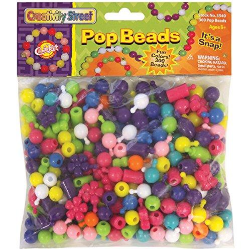 Creativity Street Pop Beads, 300 Count Pack (AC3540)