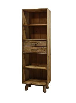 Meuble bibliothèque Colonne 4 niches 2 tiroirs en pin ...