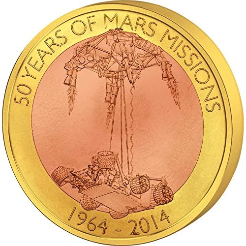 MARS FLOATING COIN 50 Years Mission 1$ Samoa 2014