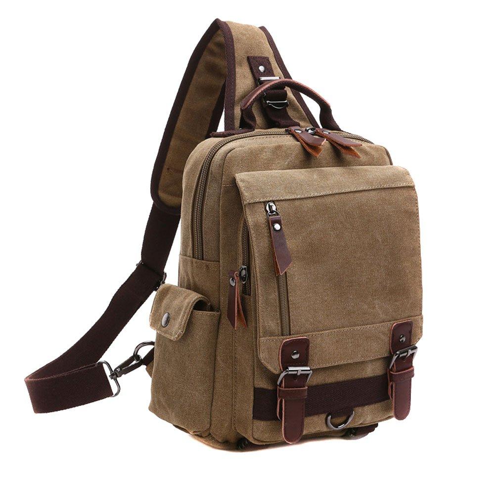 6c1f6ac275f5 Amazon.com  Toniker Small Messenger Bag Men Travel Chest Bag Shoulder Bag  Sling Bag Crossbody Bags Purse Small Backpack for Men Black  Sports    Outdoors