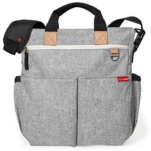 Skip Hop Duo Signature Carry All Travel Diaper Bag Tote with Multipockets, One Size, Grey Melange by Skip Hop