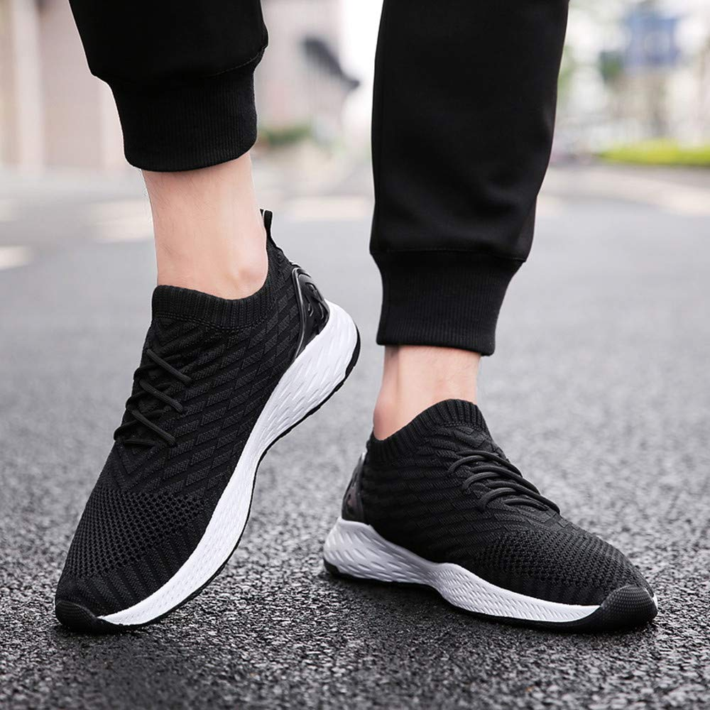 PAMRAY Mens Sport Shoes Tennis Running Athletic Jogging Sneakers Walking Gym Breathable Fitness Slip on
