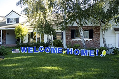 Welcome Home! Outdoor Announcement Decoration Card, Yard Sign Comes 22 Inches with Stakes