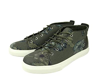 d14ca1df9 Gucci Men's Green Lace-up Floral Fabric Fashion Sneakers 342048 3364 (8 G /
