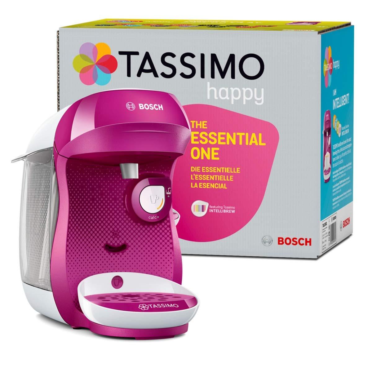 Bosch TAS1001 Tassimo Happy Cafetera Monodosis Multibebida, 1400 W, 0.7 litros, plástico, Rosa