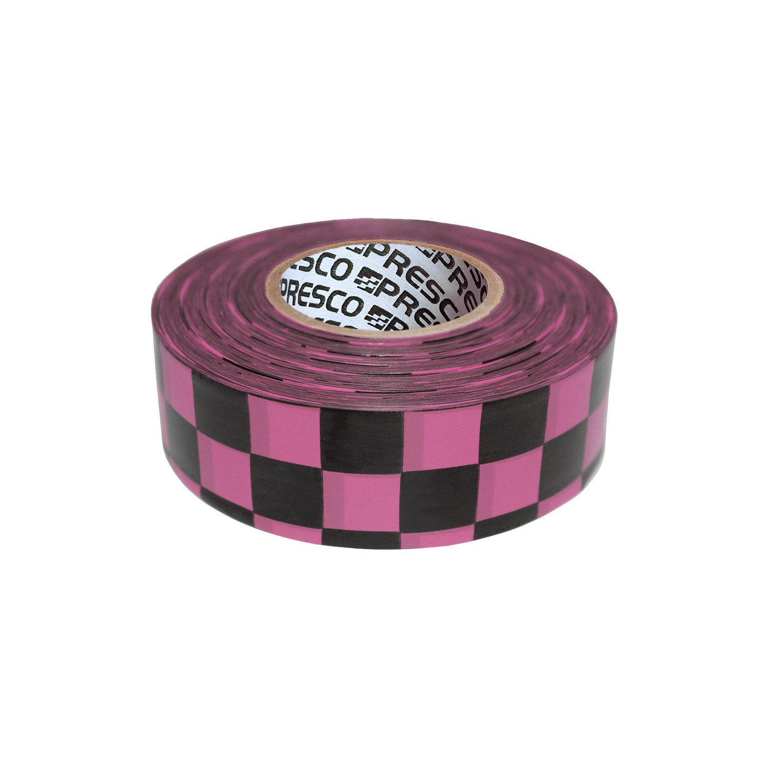 Presco Checkerboard Patterned Roll Flaggingテープ 1-3/16 in. x 150 ft. B0777S934S 10463 Neon Pink and Black Checkerboard (1.188 in. x 50 Neon Pink and Black Checkerboard (1.188 in. x 50