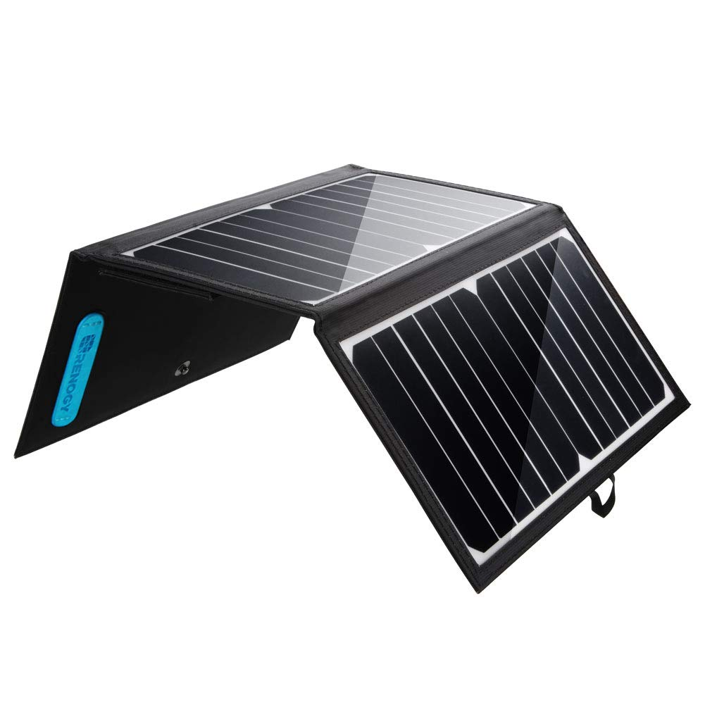 Renogy 21W Solar Charger, Dual USB Outdoor Solar Panel Charger Portable, 2-USB Port and Water-Resistant Phone Charger for iPhone Xs/Xr/8, iPad, Galaxy, Nexus, Pixel, and More