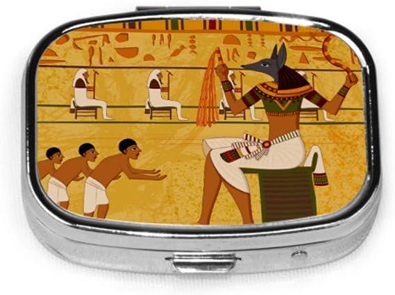 Easy Edit Antiguo estuche para tableta de medicina egipcia Estuche para píldoras Estuche organizador pequeño: Amazon.es: Salud y cuidado personal