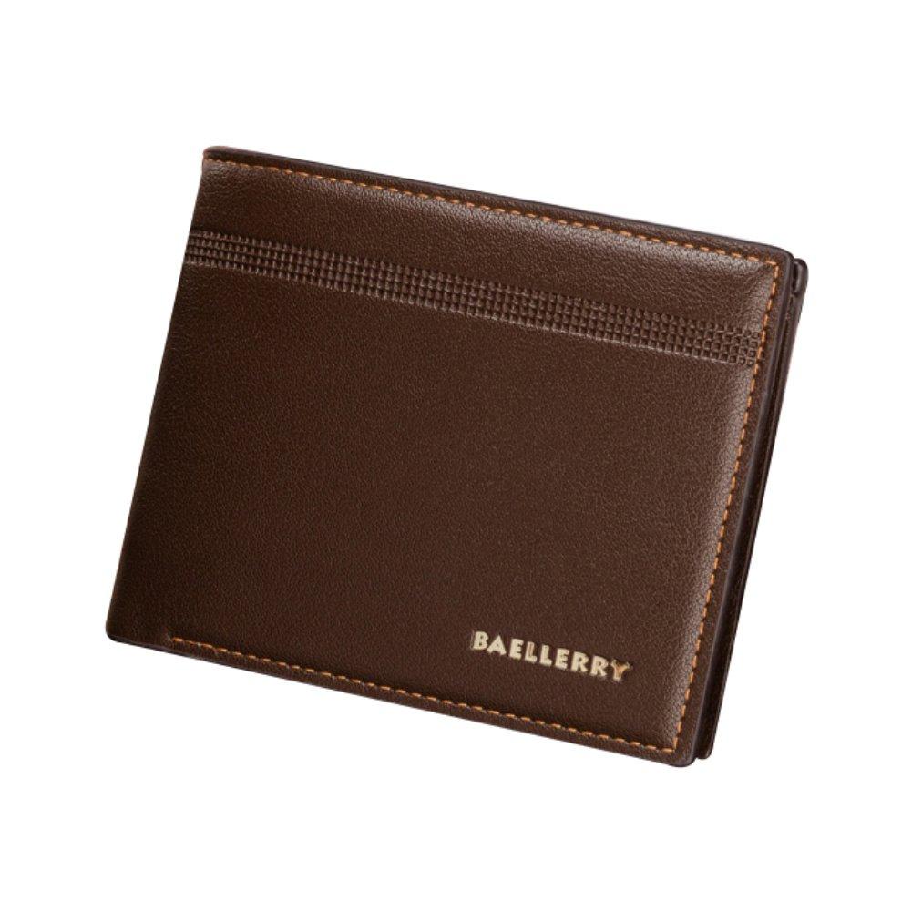 ywbtuechars Faux Leather Slim Men Wallet ID Credit Card Holder Money Clip Storage Purse Faux Leather Wallets for Men