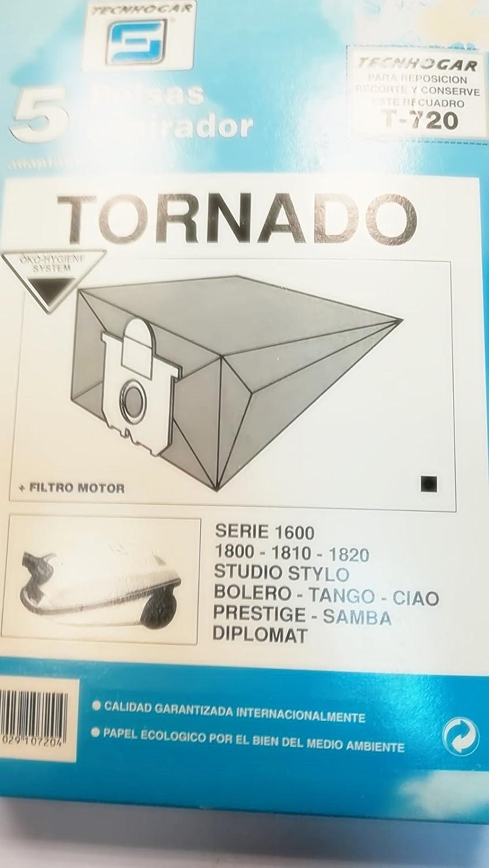 Taurus Bolsas Aspirador COMPATIBLES Tornado Serie 1600-1810 ...
