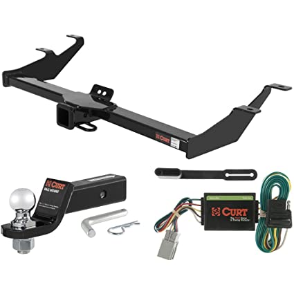 CURT Class 3 Trailer Hitch Tow Package With 2u0026quot; Ball For 2003 2004 Honda