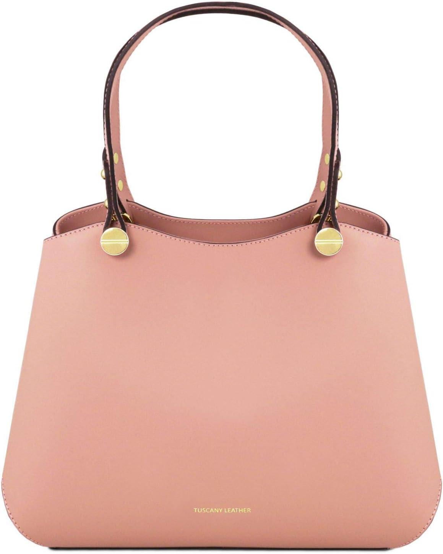 TL141684 Tuscany Leather Anna Leather handbag Ballet Pink