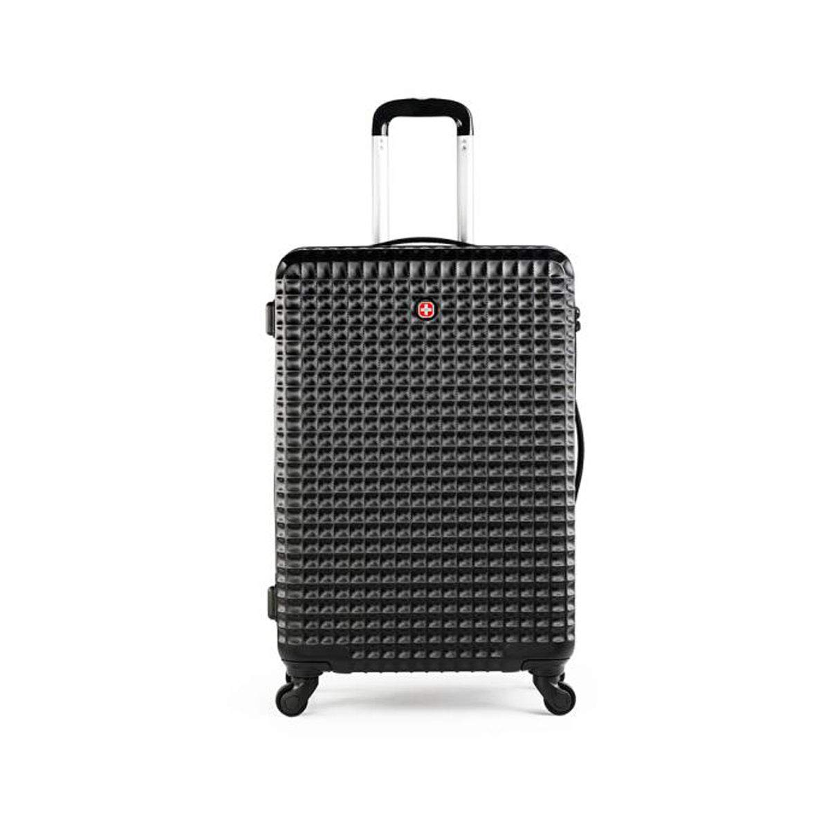 cm Mixed Travel Luggage 2 Sets of Durable Lightweight Hard Shell Suitcase Size Black Suitcase for Color : Black, Size : 201029 inch 482572