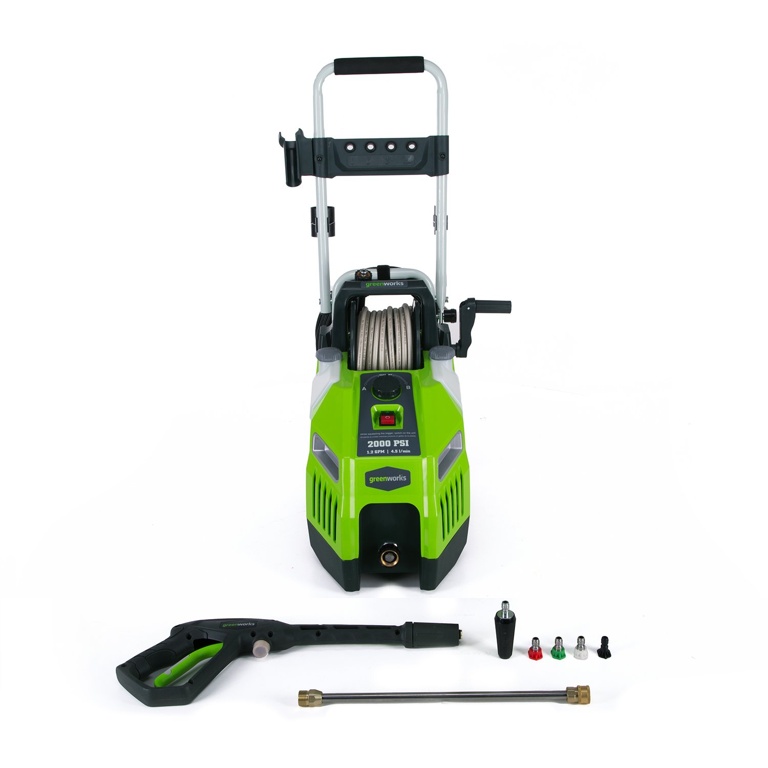 Greenworks 2000 PSI 13 Amp 1.2 GPM Pressure Washer with Hose Reel GPW2001 by Greenworks (Image #1)