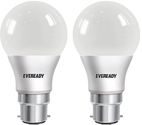 Eveready 9W CDL PK2 Base B22 9 Watt LED Bulb  Pack of 2, Cool Day Light
