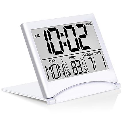 Control Snooze Mode Temperature Timer Digital Alarm Clock LCD Display Calendar
