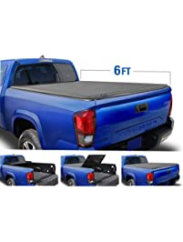 Tyger Auto T3 Tri-Fold Truck Bed Tonneau Cover TG-BC3T1031 Works with 2005-2015 Toyota Tacoma | Fleetside 6' Bed | for...